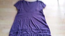Miss Selfridge T-Shirt Purple Short-Sleeved With Frilled Hem Size 10
