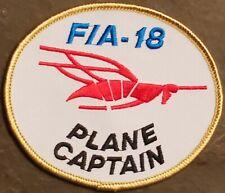 USN NAVY patch F/A-18 PLANE CAPTAIN Fighter-Attack: COLOR FLIGHT DRESS VINTAGE