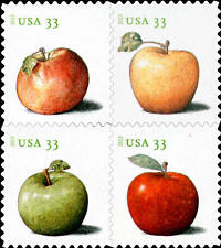 2013 33c Apples, Block of 4 Scott 4727-30 Mint F/VF NH