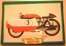 GILERA 500 FOUR DUSTBIN CLASSIC MOTORCYCLE RACE BIKE 1950'S  PRINT PICTURE 1957