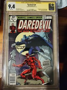 DAREDEVIL 158 CGC 9.4! Signed by Frank Miller! WP Marvel 5/79 First Frank Miller