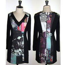 Robe DECA Paris Mod. SUZANA en T1 soit 36/38 Noir et Coloré Made In France TBE