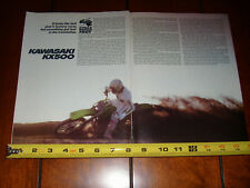 1983 KAWASAKI KX500 - ORIGINAL ARTICLE