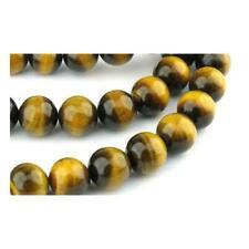 Tiger Eye Round Beads 8mm Yellow/Brown 45+ Pcs Gemstones Jewellery Making Crafts