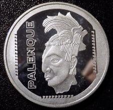 Viva Mexico 1984 Palenque 1 oz .999 fine silver round
