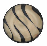 Pier 1 Zebra Salad Plate Brown Stripes Cream Handpainted Stoneware
