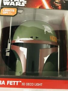 Helmet lamp STAR WARS BOBA FETT 3D DECO ELECTRONIC LED LIGHT MANDALORIAN