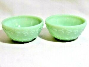 Pioneer Woman Jade Color Stoneware Dip Bowl 3.1 Inch 2-Pc Embossed Country Style