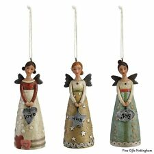 "Sculpted Angels Ornament Set ""Love, Wish & Joy"" - Kelly Rae Roberts Collection"
