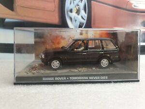 EAGLEMOSS - james bond 007 - RANGE ROVER - BLACK PAINT - 1/43 scale model car