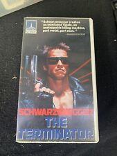 Original 1984 Thorn EMI THE TERMINATOR VHS Case & Cassette HBO Cannon Movie