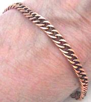 "Copper Bracelet  Linked Wheeler Sciatica Arthritis Healing Folklore cb 240 7.5"""