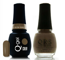 Gel & Polish QRS Beauty Combo MAT256 Taupey COMBO Brown Color