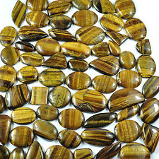 2025 Ct Natural Untreated Golden Brown Tiger eye Mix Cab Gems Wholesale Lot~62Pc