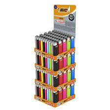 More details for bic mini flint lighters - assorted colours, tray of 50