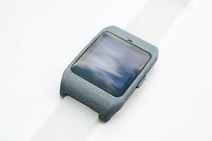 Sony SmartWatch 3 SWR-50 housing/adapter with clear silicone strap