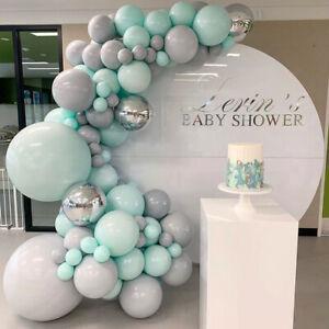 Maca Tiffany Blue Grey Balloon Arch Kit Garland Baby Birthday Wedding Party DIY