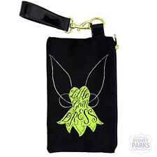 Disney Parks Tinker Bell Little Green Dress Canvas Wristlet Clutch Purse