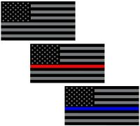 3x STICKERS + FREE BONUS - USA FLAG THIN LINE SUPPORT 2A MAGA TRUMP BUMPER DECAL