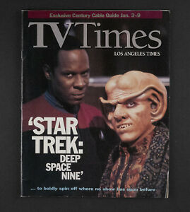 """STAR TREK: DEEP SPACE NINE"" - TV TIMES/LOS ANGELES TIMES CABLE GUIDE FROM 1993"