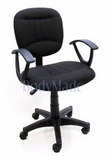 New Black Fabric Ergonomic Desk Office Chair w Swivel