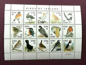 IRELAND 1997 - BIRDS - MINIATURE SHEET (15 STAMPS) - MINT NEVER HINGED