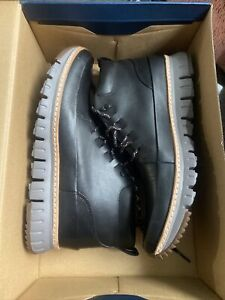 New Size 10.5 Mens Cole Haan Grand Sport Rugged Chukka Black Leather Boot C31412