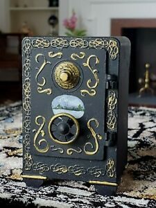 """Dollhouse Miniature Hand Painted Victorian Style Safe 1:24 1/2"""" scale"""