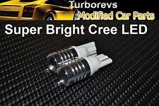 2 X SUPER BRIGHT CREE LED XENON WHITE 6000K SIDELIGHT BULBS T10 501 W5W WEDGE VW
