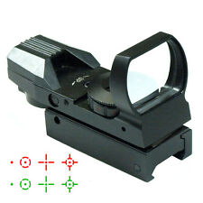 Red / Green Dot Tactical Reflex Holographic Sight Scope - 4 Reticles Rail Mount