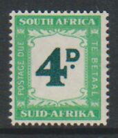 South Africa - 1958, 4d Postage Due - L/M - SG D42