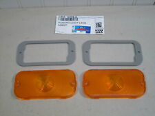 NEW 1964-1967 MERCURY COMET, CYCLONE AMBER PARKING LAMP LENSES, FORD SCRIPT
