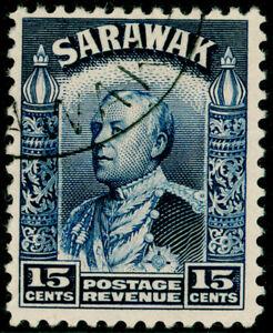 SARAWAK SG115a, 15c blue, VERY FINE USED. Cat £15.