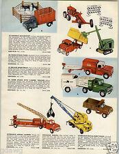 1959 PAPER AD Tonka Toy Truck COLOR Stake Dump Michigan Shovel Bulldog Tank