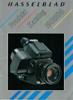 HASSELBLAD - Prospekt Broschüre - Produkt Katalog 1985 / 86 - Kameras - B13490