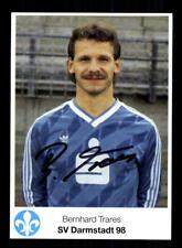 Bernhard Trares Autogrammkarte Darmstadt 98 1986-87 Original Signiert
