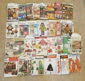 27 LOT SEWING PATTERNS BUTTERICK + New and Used Crafts Women Children Men's