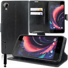"Etui Coque Housse Portefeuille Support Video NOIR HTC Desire 10 Lifestyle 5.5"""