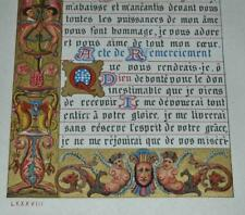 ILLUMINATED LEAF FROM A  BOOK OF HOURS, FRENCH GOTHIC TEXT