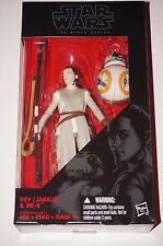 "Star Wars Black Series 6"" Rey Jakku and Bb8 The Force Awakens 6 inch Hasbro"