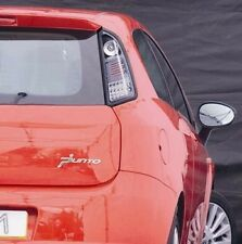 Fiat Punto Grande 2005-2012 Black Clear Bright LED Rear Back Tail Lights - Pair