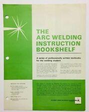 Vintage James Lincoln Arc Welding Foundation Instruction Bookshelf Brochure 1986