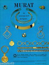 PUBLICITE ADVERTISING 055  1971  MURAT   bijoux joaillierie