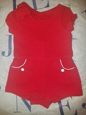 Janie and Jack Red Quilted Romper