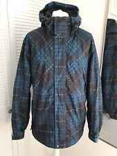 Protest Boardwear Geotech Ski Jacket Mens Large Blue Geometric Water Resistant