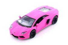 Matte Pink Lamborghini Aventador LP700-4 Diecast Model Toy Car 1:38 Scale 5""