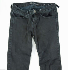 GUESS JEANS Black Skinny Elastic Ruched Legs Pants size 27