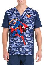 Cherokee Tooniforms Medical Scrubs Men's Superman permanTop Sz Small NWT