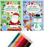 KIDS A4 Super Jumbo MY BIG CHRISTMAS Activity Colouring Book Books Pencils