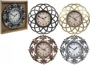 Vintage Retro Metallic QUARTZ Large Round  Wall Clock 40 CM Sliver Gold Bronze